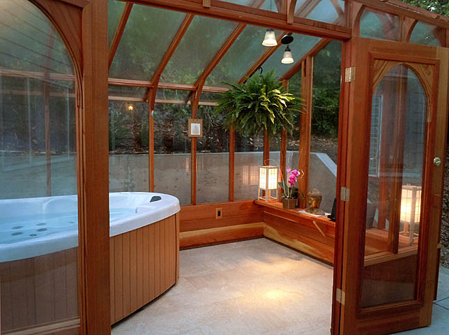 Hot tub solarium for Solarium room